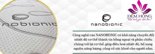 Công nghệ cao Nanobionic có khả năng chuyển đổi nhiệt độ cơ thể thành tia hồng ngoại và phản chiếu chúng trở lại cơ thể, giúp điều hòa nhiệt độ, bổ xung nguồn năng lượng và củng cố sức khỏe cho người nằm.