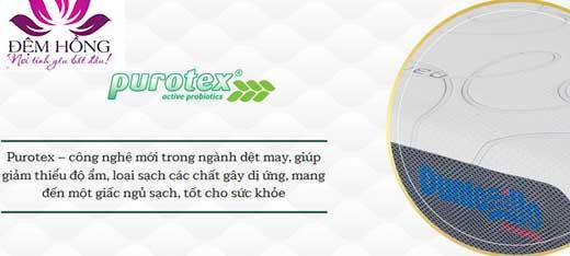 Công nghệ purotex giúp giảm thiểu độ ẩm, loại sạch các chất gây dị ứng