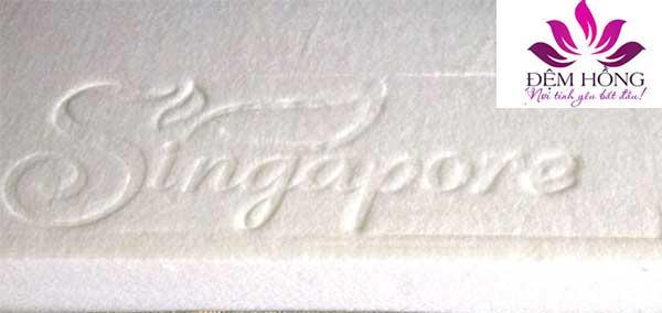 Ruột bông ép với logo Singapore dập chìm bên chính hãng