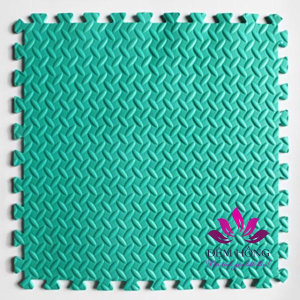 Thảm xốp ghép 60x60cm vân ghế mầu xanh ngọc