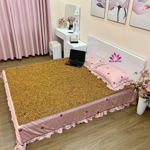Chiếu gỗ Pomu 100% Việt Nam đan thủ công chắc chắn