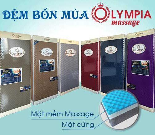 Mẫu nệm bông ép 4 mùa Olympia massage