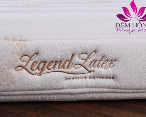 Logo Legend Latex thêu trên vỏ bọc đệm cao cấp