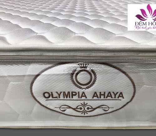 Logo thêu của nệm lò xo Ahaya