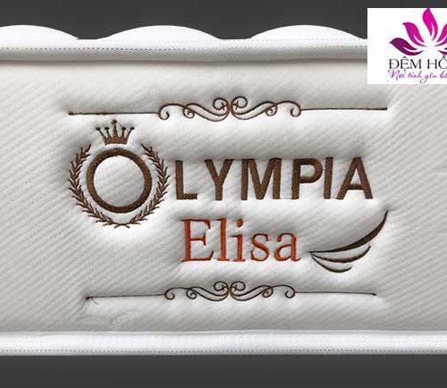 Logo thêu của nệm lò xo Elisa