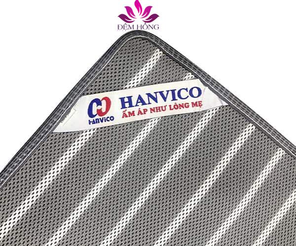Tem mác Hanvico, day thun 4 đầu chắc chắn của đệm mát CoolMattress