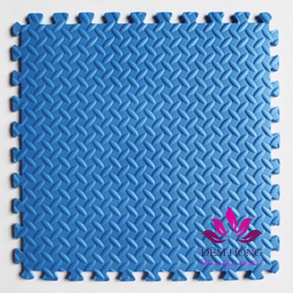 Thảm ghép 60x60cm vân lá khế hiệu Tường Lâm màu xanh lam