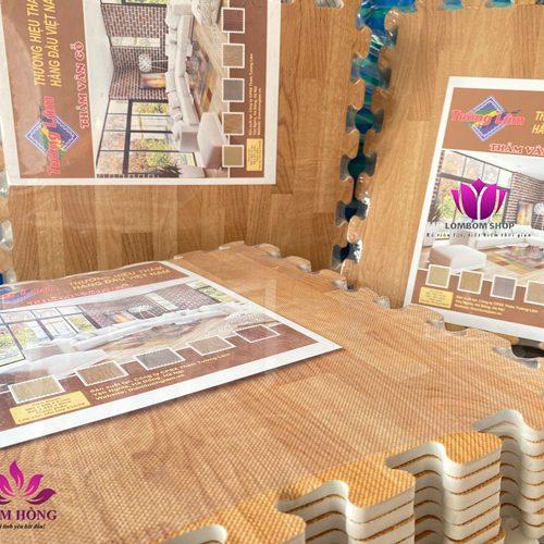Thảm xốp ghép vân gỗ Tường Lâm cao cấp chính hãng