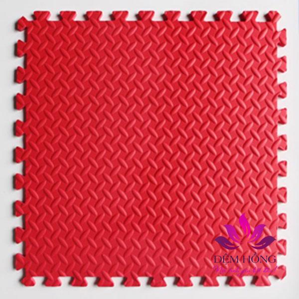 mẫu thảm ghép vân khế 60x60 màu đỏ Tường Lâm